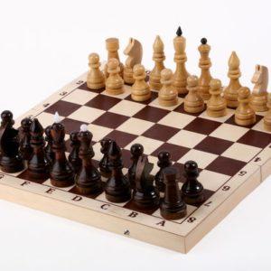 Шахматы турнирные в комплекте с доской 400x200x5 (Цена 780 руб.)