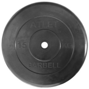 Диски обрезиненные «Atlet» 15 кг