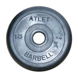 Диск обрезиненный «Atlet» 1,25 кг