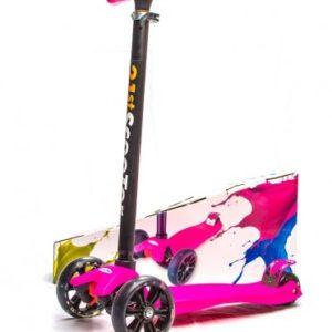 Самокат Scooter не складной, светящиеся колеса ширина 4 см