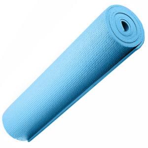 Коврик для йоги 173х61х0,8 см (голубой) с рифлением (материал ПВХ)
