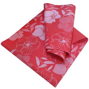 Коврик для йоги 173х61х0,4 см (красный с принтом)