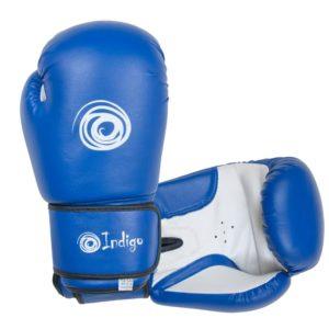 Перчатки боксерские INDIGO ПВХ. Размер: 12 унций.
