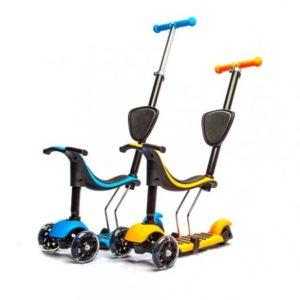 Самокат Scooter детский 3 в 1 с сиденьем и ручкой