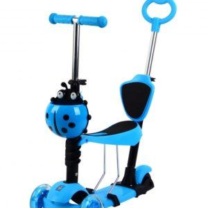 Самокат Scooter детский 5 в 1 с сиденьем и ручкой, светящиеся полиуретановые колеса