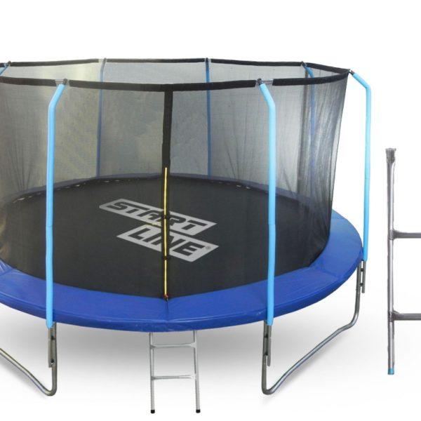 Батут 12 футов (366 см) с внутренней сеткой, держателями и лестницей