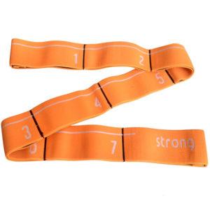 Эспандер эластичная лента 5*92 см (оранжевая) (с прошитыми петлями для захвата)