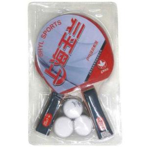 Набор д/настольного тенниса в блистере (2ракетки, 3 шарика)