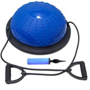 Полусфера bosu гимнастическая, 46см., (синяя) в комплекте с насосом