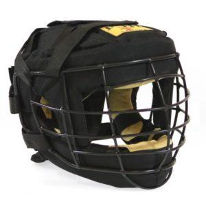 Шлем с маской для единоборств ТИТАН-4, ткань/иск.замша
