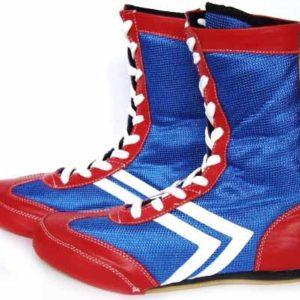 Боксерки Cliff высокие красно-синие