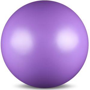 Мяч для художественной гимнастики силикон Металлик 300 г 15 см